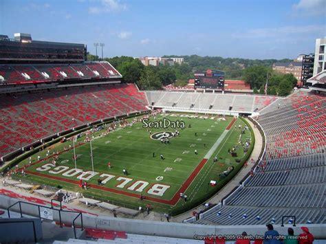 sanford stadium student section sanford stadium section 316 rateyourseats com