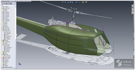 solidworks tutorial aircraft uh 1h huey modeling process with solidworks selcuk ozmumcu