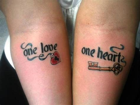 couple yin yang tattoos lock and key yin yang yen yang couples yen s