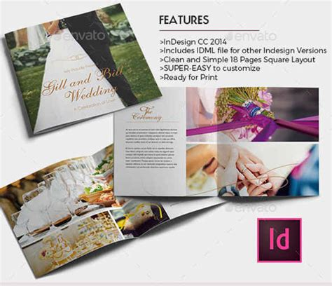 wedding brochure layout 25 wedding brochure templates free premium