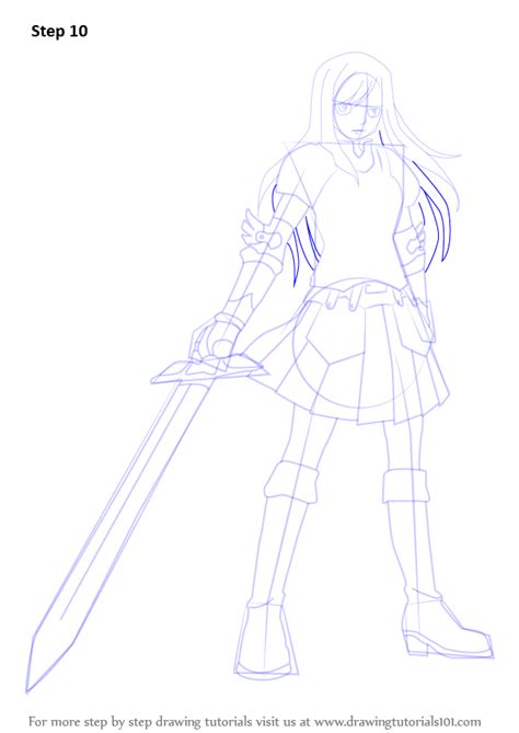 step by step how to draw erza scarlet from fairy tail
