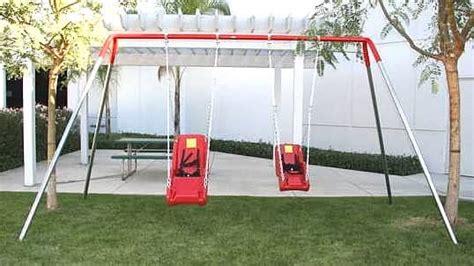 special needs swing set special needs swing sets 2 seats
