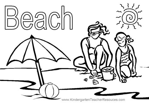 coloring pages beach summer beach coloring pages coloring home