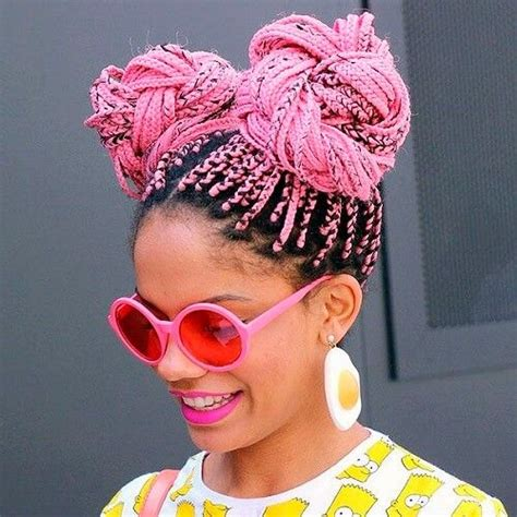 box braids two buns hairstyle pics 60 totally chic and colorful box braids hairstyles to wear