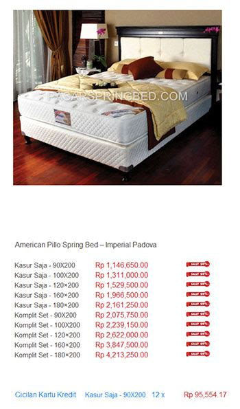 Kasur American Bed harga american pillo bed harga bed