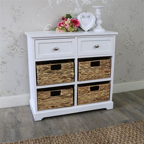 Bathroom Wicker Drawers by White Wood Wicker 6 Drawer Basket Chest Of Drawers Bedroom