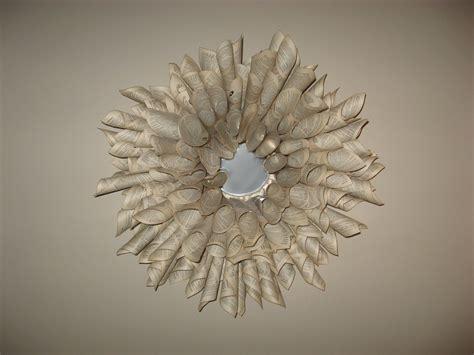 cornice specchio fai da te ghirlanda di carta come cornice o decoro cose di casa