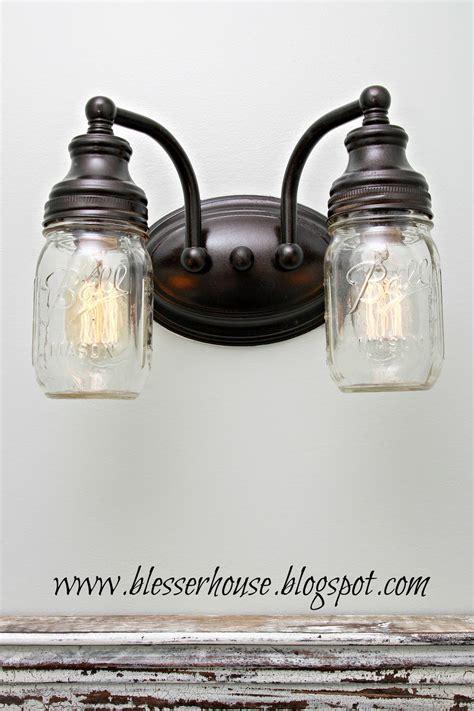 jar bathroom light fixture diy mason jar vanity light bless er house