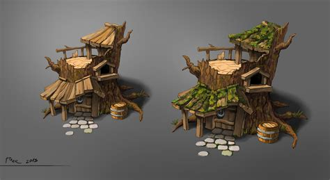 Small Log Cabin Designs treehouse concept by psykolin on deviantart