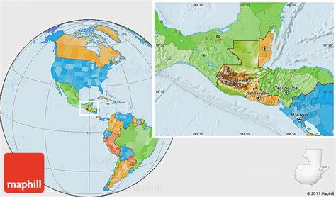 guatemala on world map physical location map of guatemala political outside