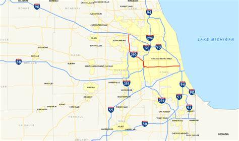 houston chicago map interstate 290 illinois