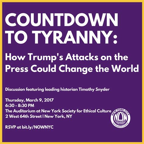 summary of timothy snyder s on tyranny key takeaways analysis books countdown to tyranny how trump s attacks on the press