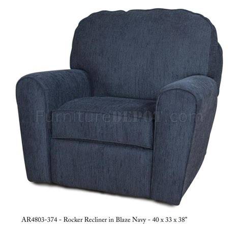 Modern Fabric Recliners by Navy Fabric Modern Rocker Recliner