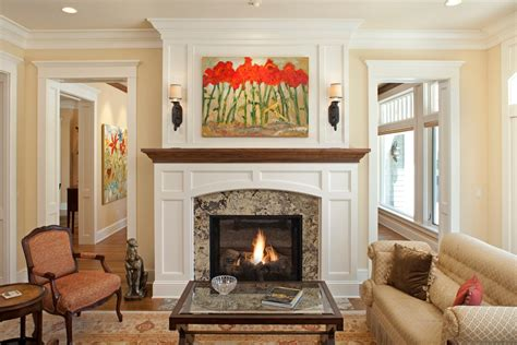 Craftsman Style Home Interiors granite fireplace surrounds living room traditional with