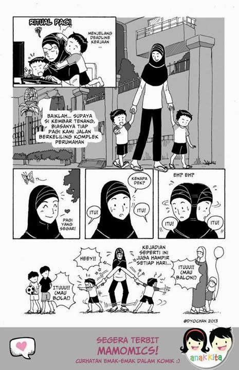 Komik 3 X 3 Mata ketimbun buku curhatan emak emak dalam komik mamomics