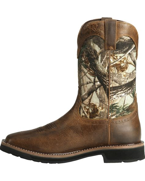 justin s stede camo waterproof work boots boot barn