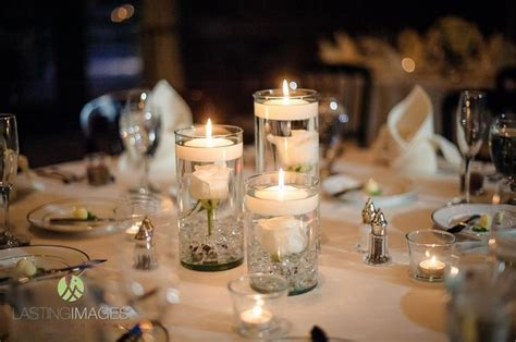 candles for centerpieces for wedding receptions wedding reception floating candles centerpiece idea