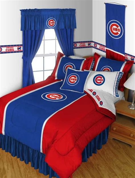 chicago cubs bedding mlb chicago cubs bedding and room decorations