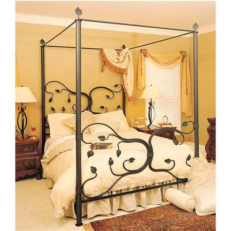 Wrought Iron Canopy Bed Frames Wrought Iron Canopy Bed Frame 28 Images 75 Black Wrought Iron Canopy Size Bed Frame For Sale