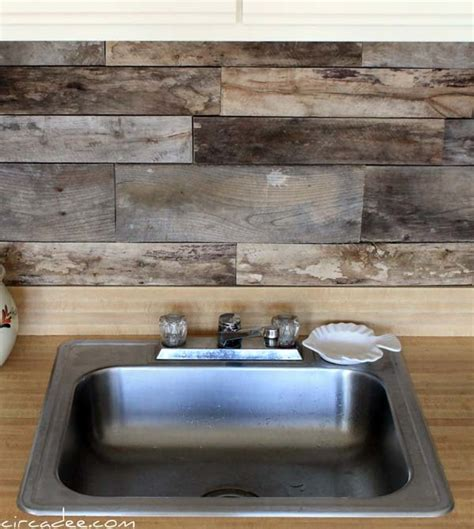 wood kitchen backsplash ideas 24 cheap diy kitchen backsplash ideas and tutorials you