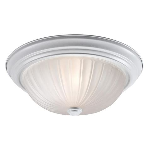 home depot flush mount light filament design negron 2 light white incandescent flush