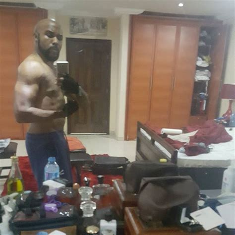 selfie bedroom banky w shows off his almost toned bod in new bedroom