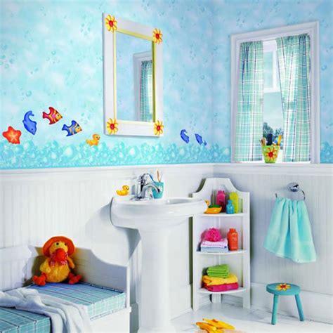 unisex childrens bathroom decor themes for kids bathrooms