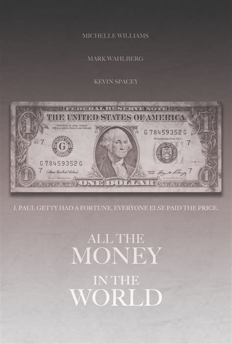 the in the world all the money in the world altervative poster