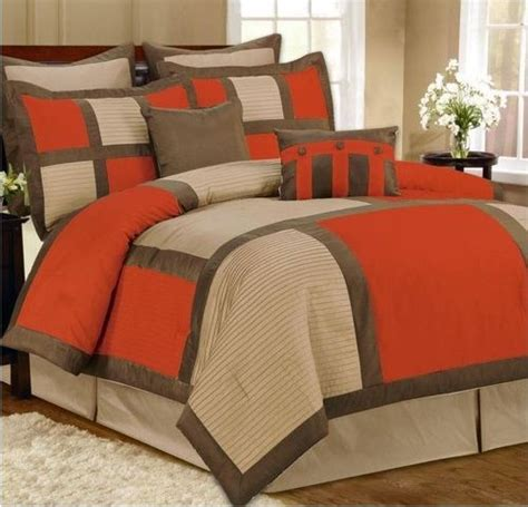 8 best rustic orange grey bedding sets images on
