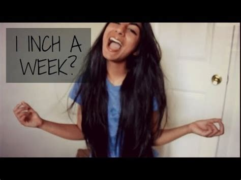 1 inch of hair grow your hair 1 inch a week youtube