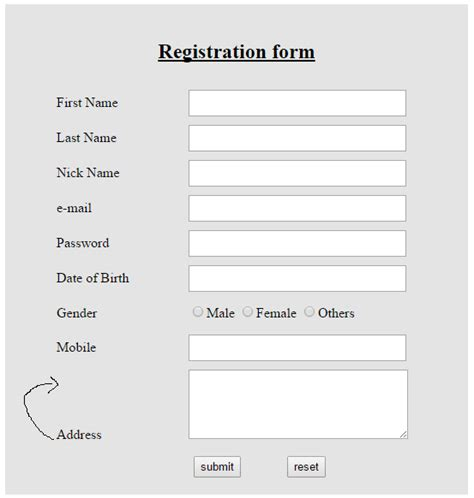 form layout exles html css html form layout arrangement stack overflow