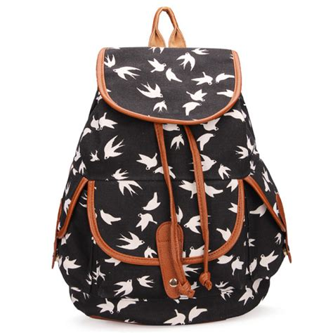 Drawstring Canvas Backpack buy vintage casual drawstring travel canvas backpack