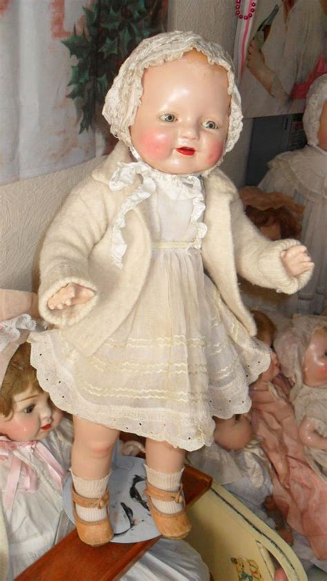 composition doll dimples composition doll 21 eih antique baby doll dimples