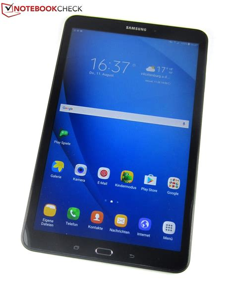 samsung galaxy tab a 10 1 2016 tablet review notebookcheck net reviews