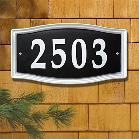 home decor address whitehall products easy street address sign plaque silver