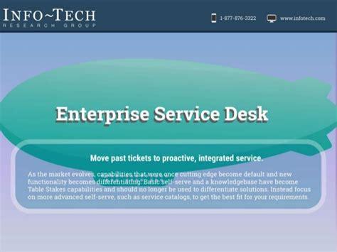 vendor landscape enterprise service desk software