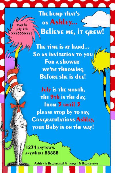 Dr Seuss Birthday Card Template Dr Seuss Birthday Invitations Template Best Template