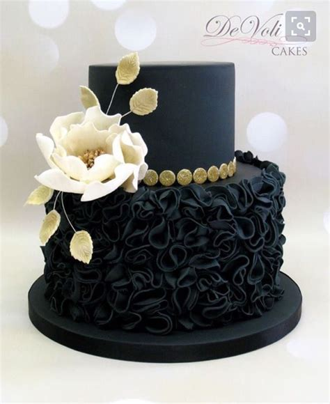 Black Wedding Cake Flowers by 453 Best Black Cakes Images On Anniversary