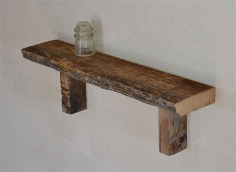 reclaimed barn wood wall shelf living room