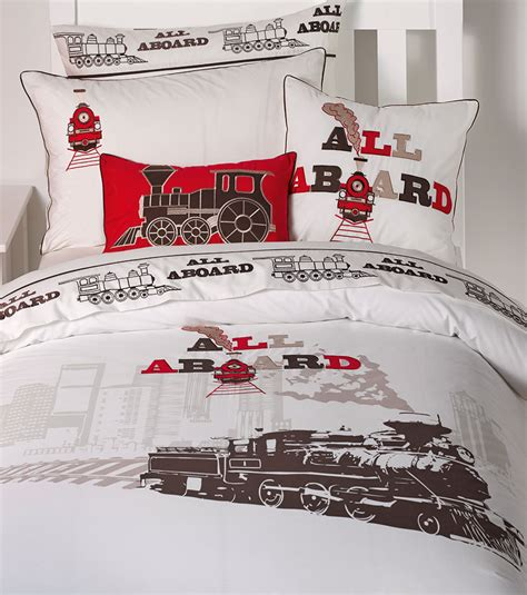 train comforter engine quilt doona duvet cover set train bedding boys kids