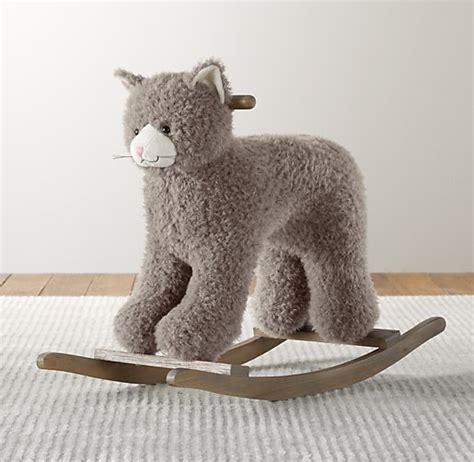 shaggy plush animal rocker cat