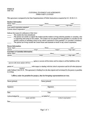 third agreement template custody agreement sles anuvrat info