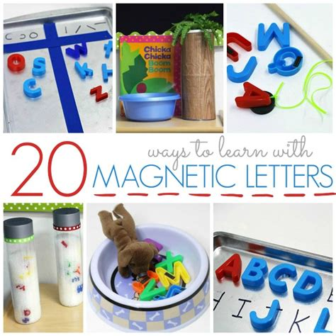 kindergarten activities with magnetic letters 20 ways to use magnetic letters pre k pages