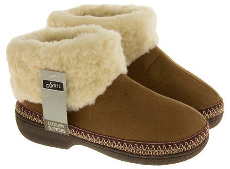 warm slipper boots womens boot slippers warm soft winter comfy flat