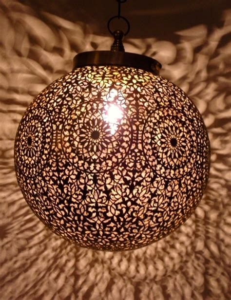 Decorative Chandelier Shades Artisanat Marocain Lampes Suspension Boule Lampe