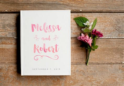 Wedding Gift Book by Watercolor Wedding Guest Book Pink Guest Book Wedding