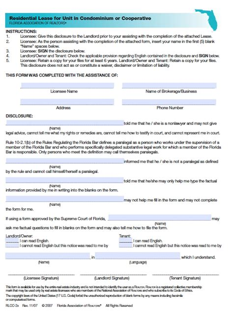 Download Florida Rental Lease Agreement Forms And Templates Pdf Word Doc Wikidownload Condo Rental Application Template