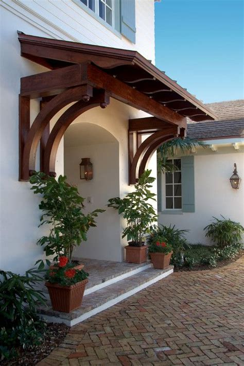 Wood Door Awning by Wooden Awning West Indies Style By