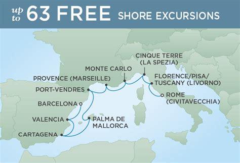 cruises rome to barcelona rome to barcelona on seven seas voyager platinumcruising