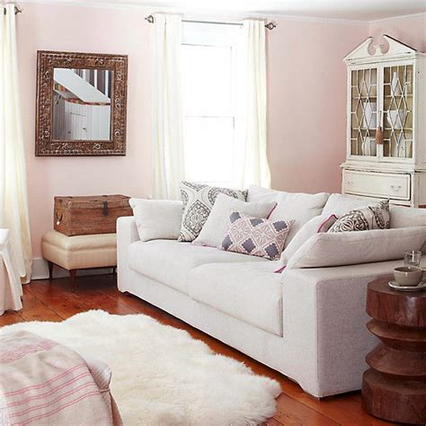 pink living room paint colors